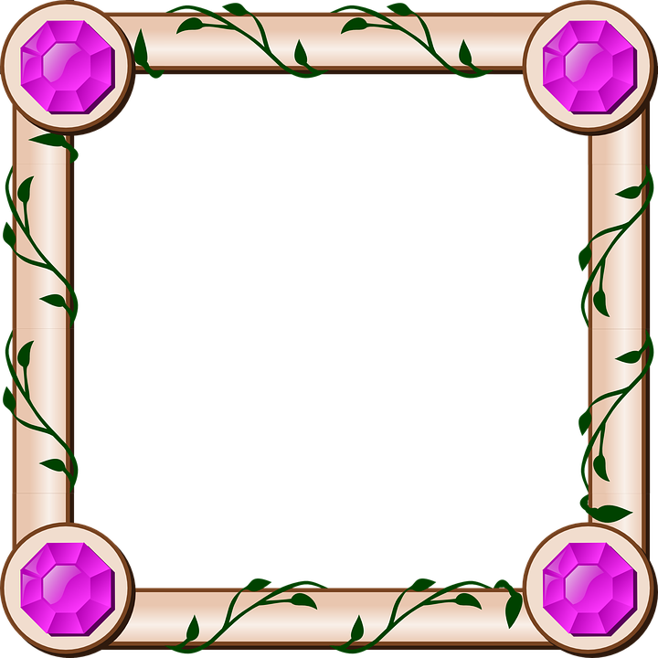 border frame design invitation ivy jewel ornate