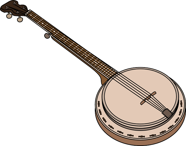 how to draw a banjo instruments