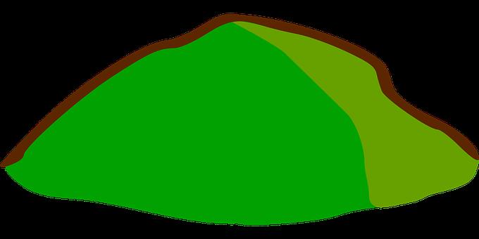 Hill, Mapa, Símbolos, Grama, Topografia