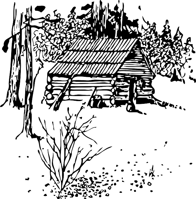 cabin clipart black and white. free vector graphic cabin home house log image on pixabay 31645 clipart black and white