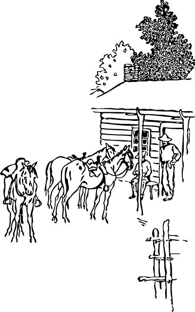 Horse Farmer Farm Free Vector Graphic On Pixabay