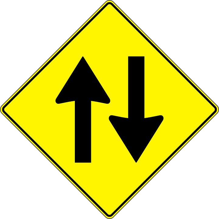 Two Way Street Traffic Signs Free Vector Graphic On Pixabay