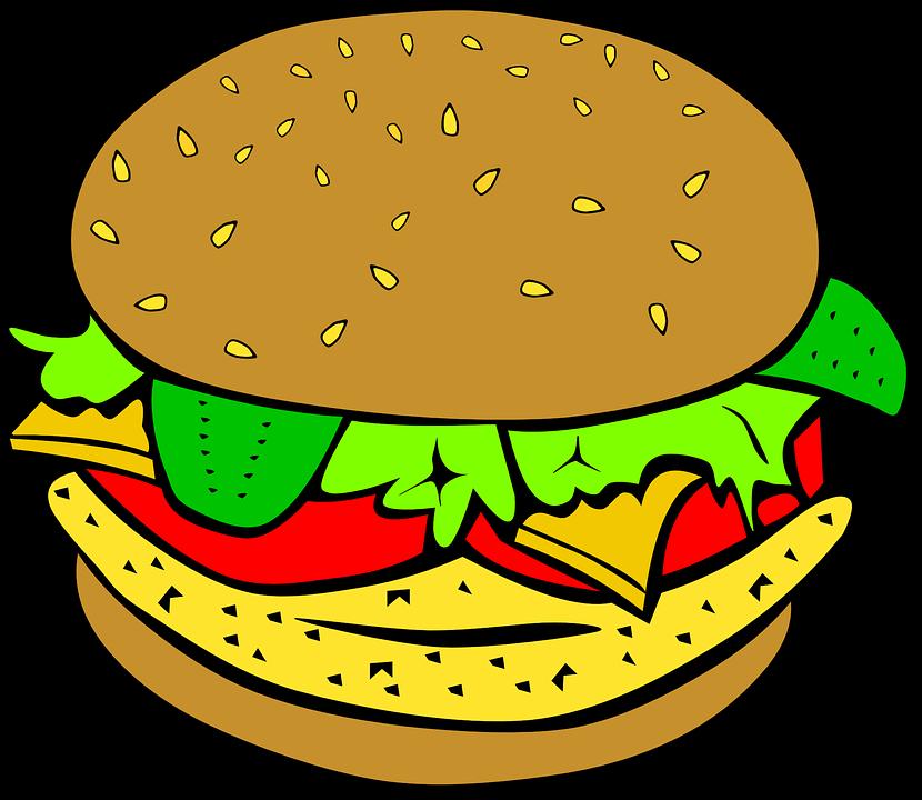Burger Sandwich Makan Gambar Vektor Gratis Di Pixabay