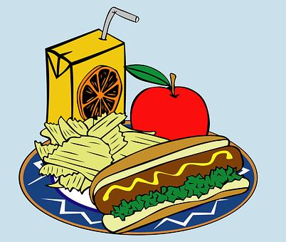 Ebéd, Étkezés, Élelmiszer, Ital