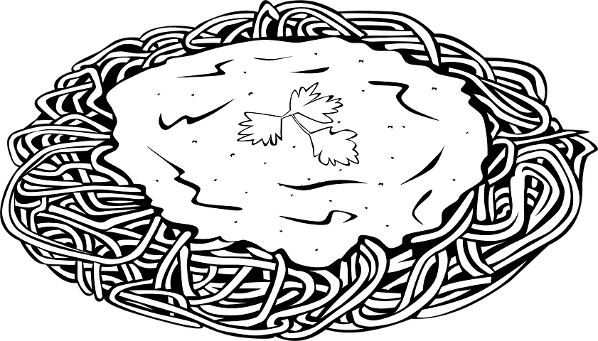 Картинки для срисовки макароны с сыром