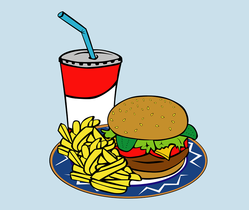 food lunch fast burger meal drink fries graphic pixabay