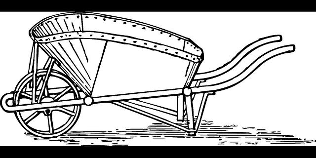 Wheelbarrow Barrow Garden Cart 183 Free Vector Graphic On