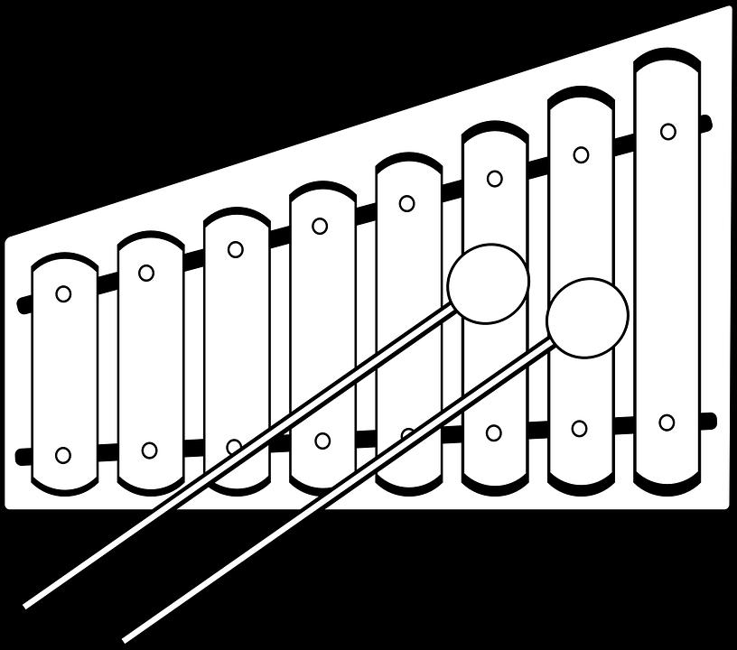 Металлофон раскраска