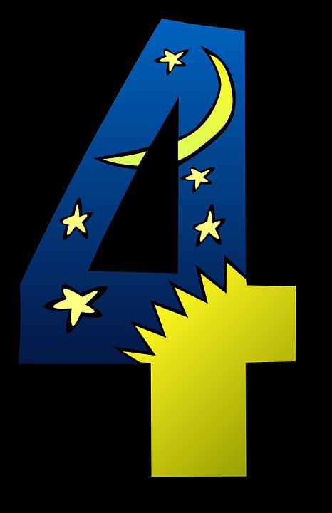 Cuatro Cuarto 4 · Gráficos vectoriales gratis en Pixabay