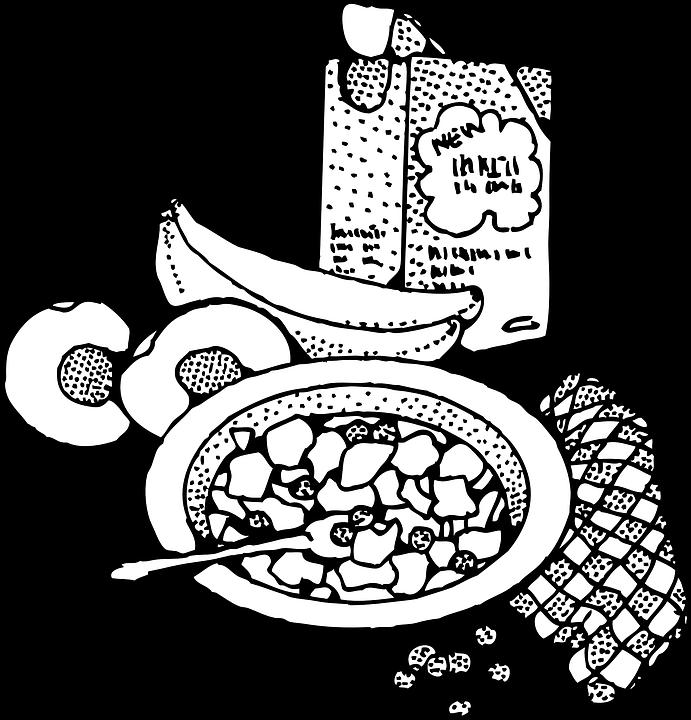 Desayuno Cereales Banano Graficos Vectoriales Gratis En Pixabay