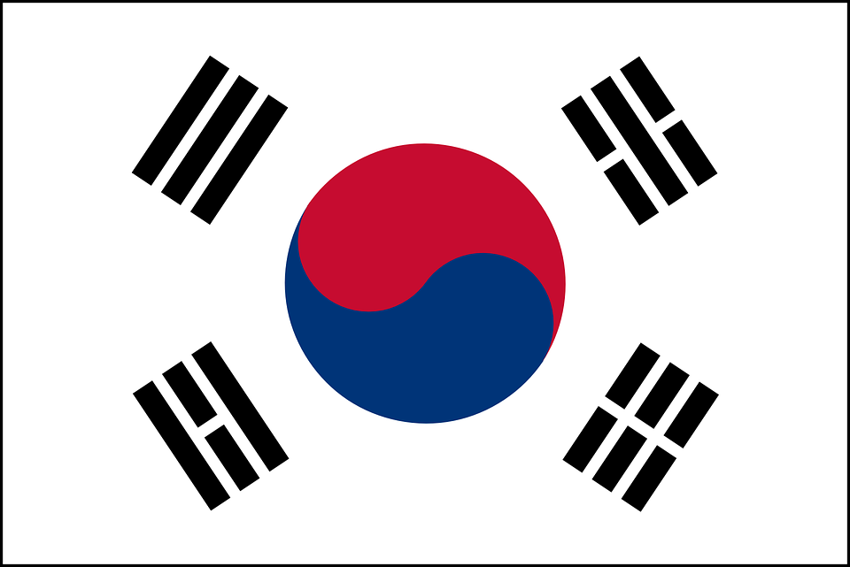 South, Korea, Flag, Korean, National, Country, Nation