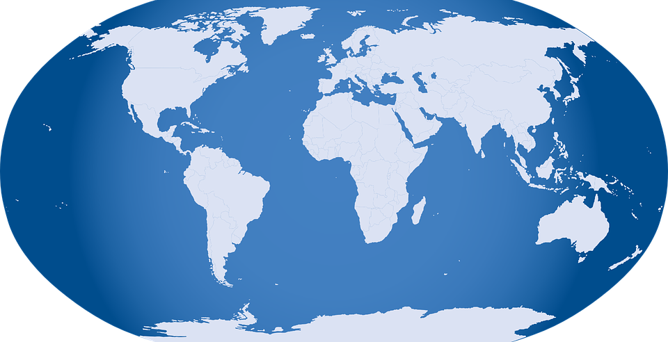 Free Vector Graphic Globe World Map Earth Free Image On - Map of globe