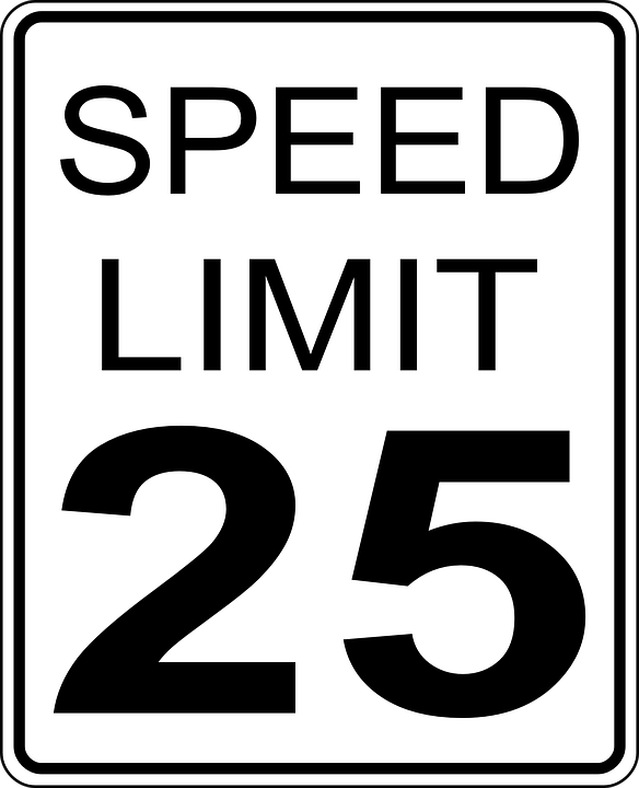 free vector graphic  speed  limits  sign  symbol  road