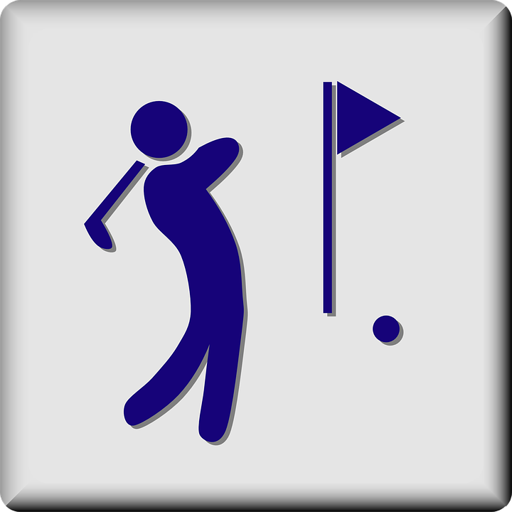 Golf Course Golfing Hotel Sign Symbol