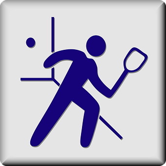Racquetball Sport Facility Hotel Sign Symb