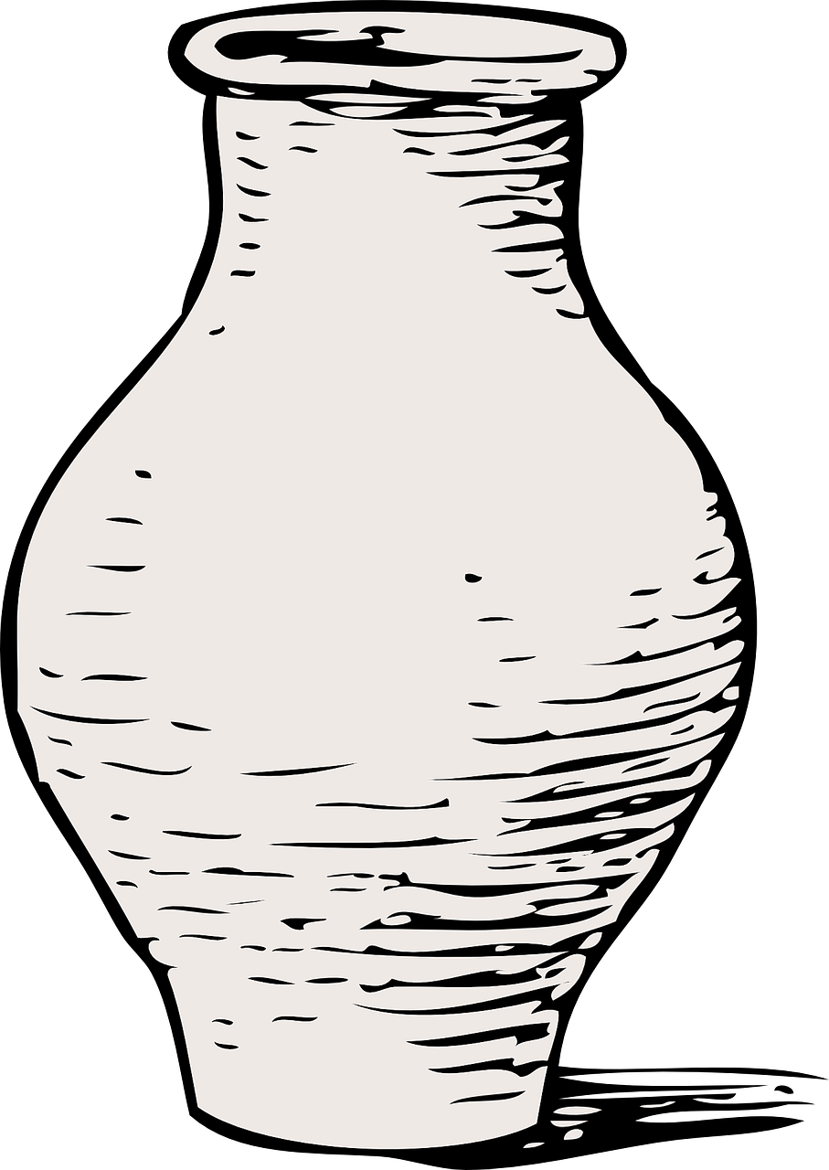 Vase Black And White Container Free Vector Graphic On Pixabay