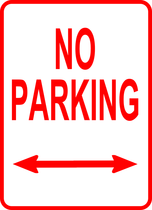 Current image pertaining to printable no parking sign