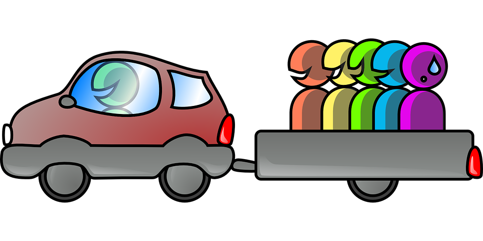 Carpooling Driving Car Free Vector Graphic On Pixabay