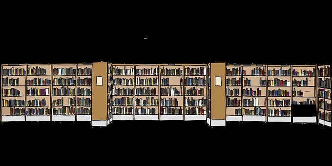La Bibliothèque, Livres, Étagères