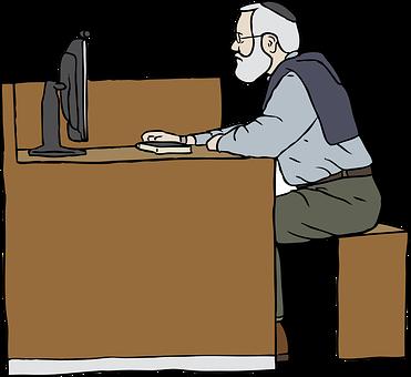Working, Man, Sitting, Computer