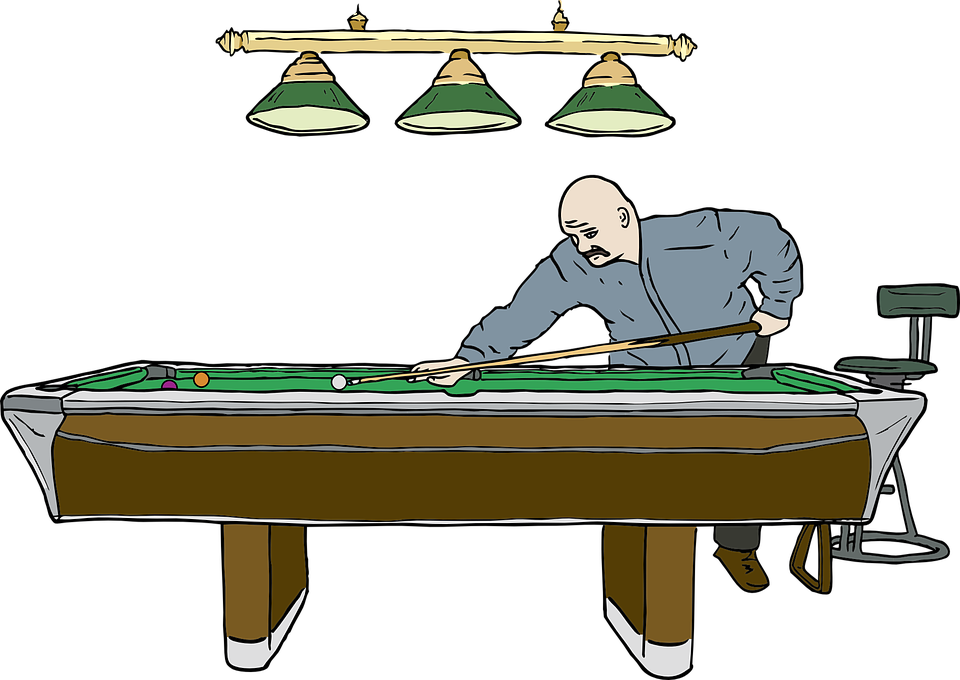 Free vector graphic pool billiard snooker player for Set de table transparent