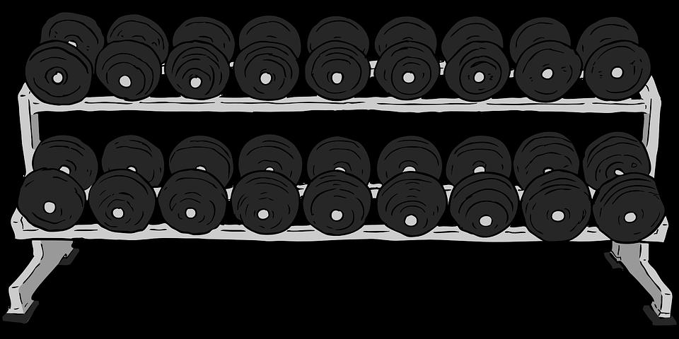 kostenlose vektorgrafik hanteln rack gewichte eisen. Black Bedroom Furniture Sets. Home Design Ideas