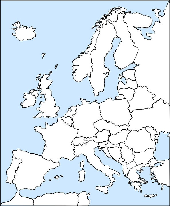 Free Vector Graphic Europe Map Western Political Free Image - Western europe map