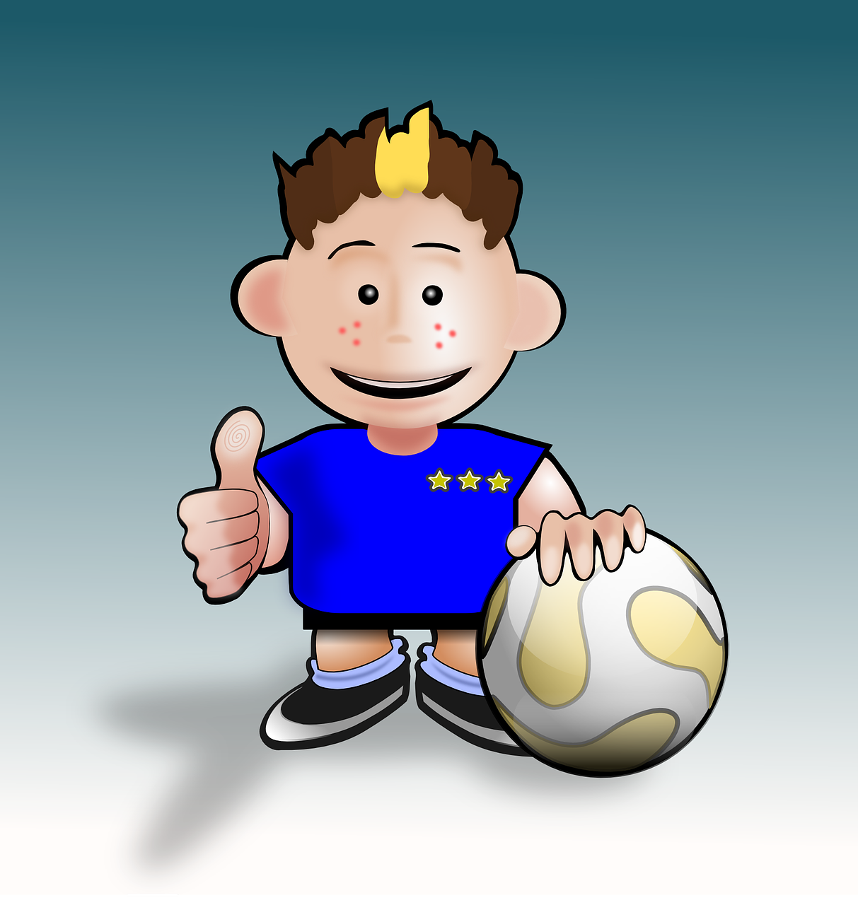 Картинка про футбол для детей, днем рождения