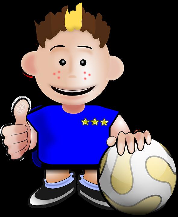Menino Criança Futebol · Gráfico Vetorial Grátis No Pixabay