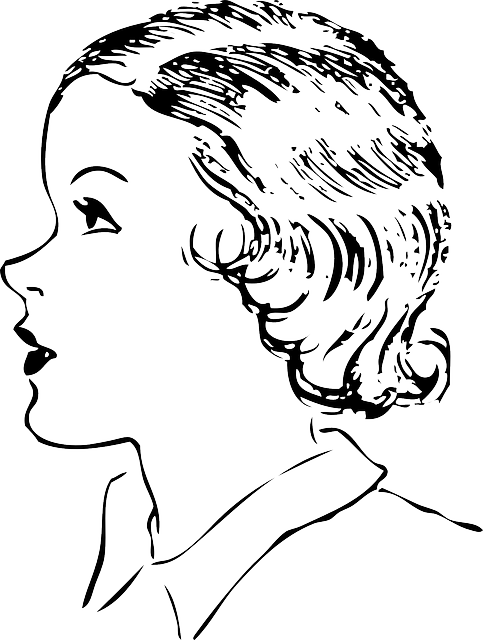 Woman Face Line Drawing Png : Woman side profile face short · free vector graphic on pixabay