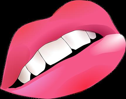 woman wearing pink lipstick ilustration