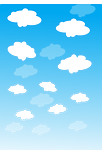 clouds, blue, white