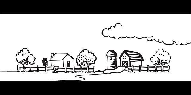 Free vector graphic: Landscape, Rural, Village, Area ...