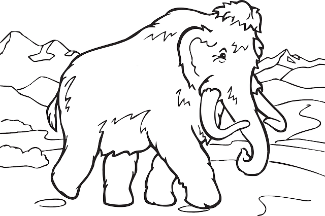 free vector graphic mammoth extinct prehistoric free image on pixabay 33146 - Cartoon Images To Colour