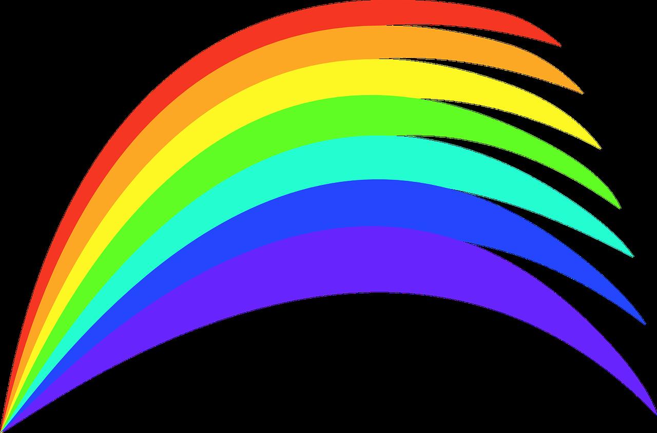 картинка радуги без фона маникюра