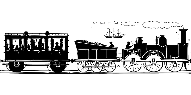 passenger train coal guard steam 183 free vector graphic on