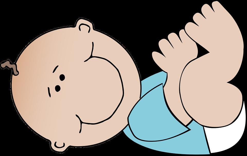Bebé Niño Azul Recién · Gráficos Vectoriales Gratis