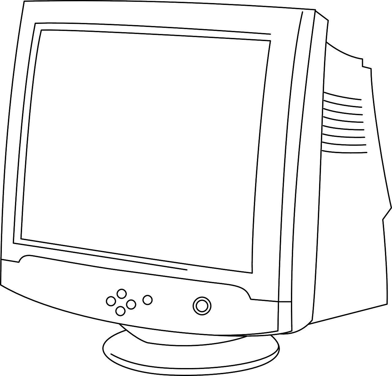 Puter Monitor Screen Free Vector Graphic On Pixabay