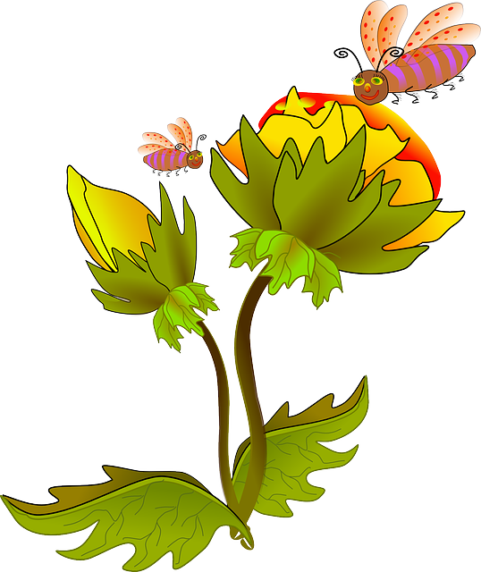 Flowers Bees Pollen · Free vector graphic on Pixabay