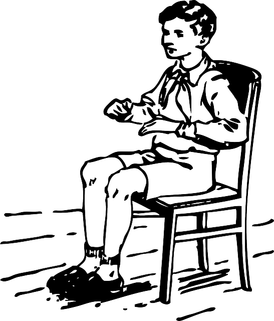 Boy student sitting free vector graphic on pixabay - Stuhl transparent ...