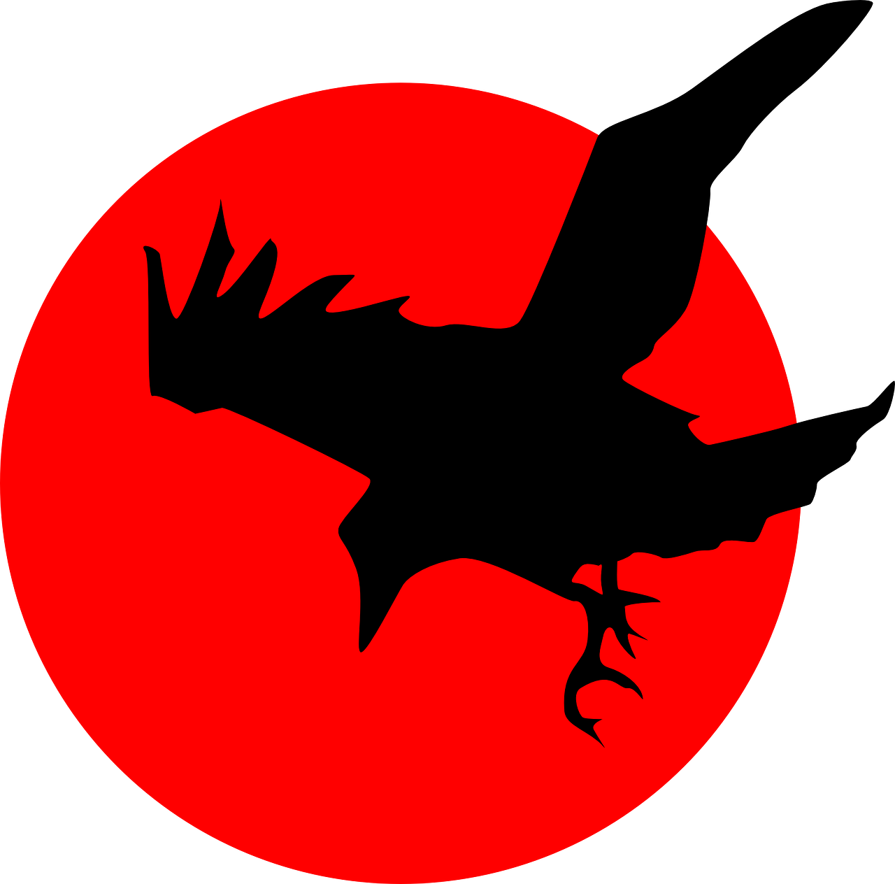 Crow Flying Silhouette   Free vector graphic on Pixabay