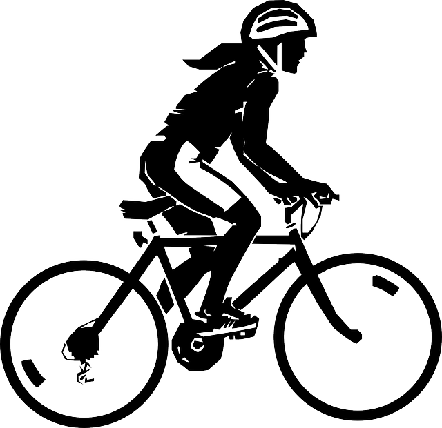 Free Vector Graphic Woman, Riding, Bicycle, Sport - Free
