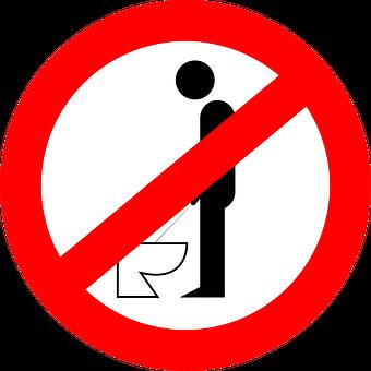 Urinating, Forbidden, Peeing, Not