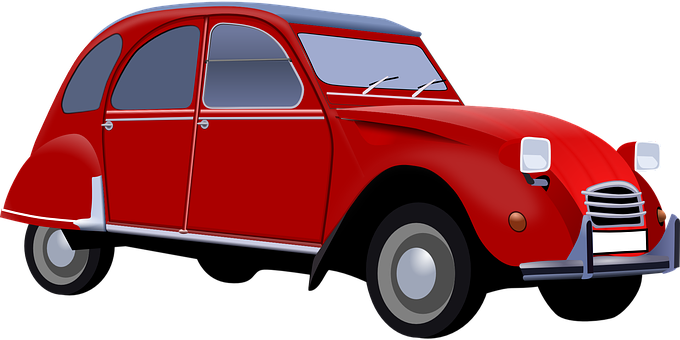 Car, Vintage, Red, Old, Automobile
