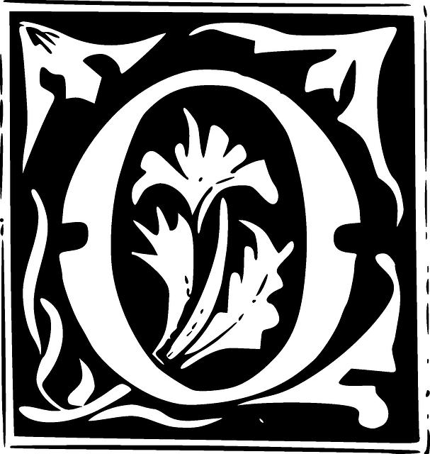 Free vector graphic monogram initial letter letter o for Letter o monogram