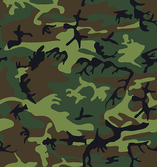 Camouflage, Green, Brown, Black