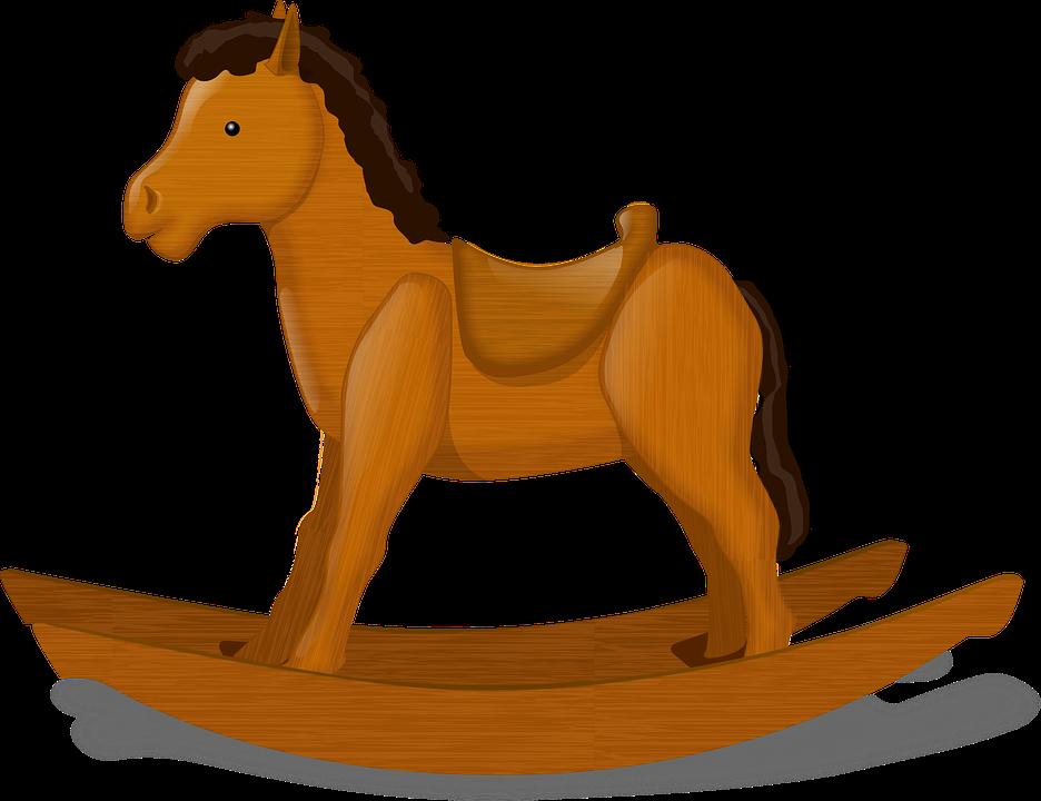 Gyngehest, Barns Legetøj, Hest, Dekorative, Møbler