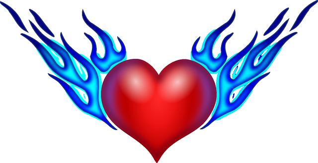 Coeur flammes l 39 amour images vectorielles gratuites sur - Images coeur gratuites ...