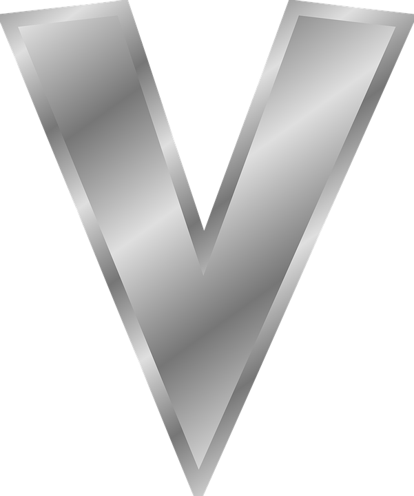 V Letter Alphabet Font