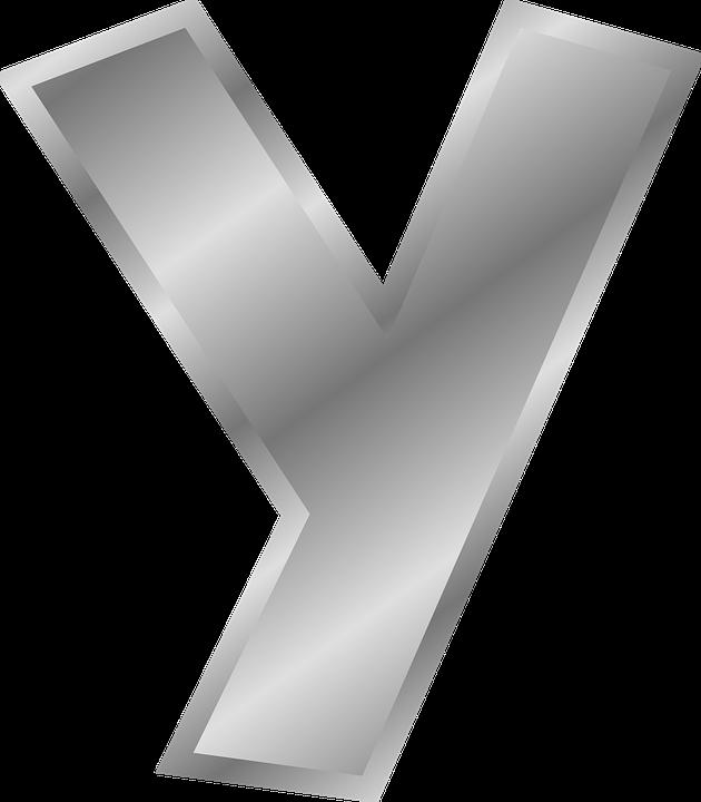 Letter Y Alphabet English Silver